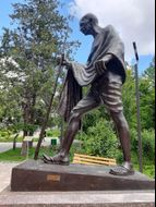 Махатма Ганди. Памятник в Киеве poster image