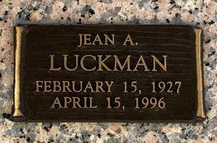 Jean A.  Luckman  poster image