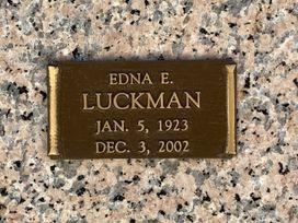 Edna E. Luckman  poster image
