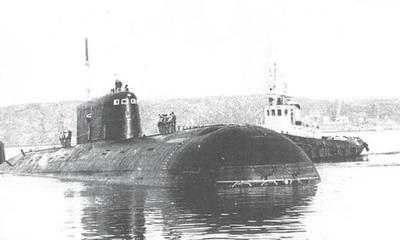"""Подводный атомоход К-278 """"Комсомолец"""" проект 685 «Плавник»."""